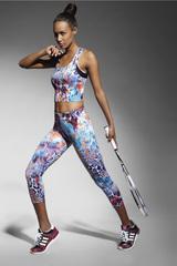 Спортивные легинсы-бриджи разноцветные