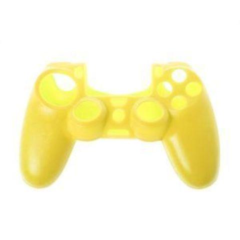 Sony PS4 Чехол для геймпада DualShock 4 (желтый) + накладки