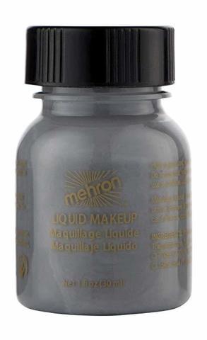 MEHRON Жидкий грим Liquid Makeup, Grey (Серый), 30 мл