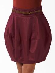 0553 юбка бордовая