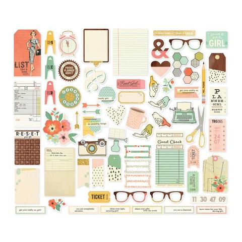 Высечки Reset Girl Bits & Pieces Die-Cuts-67 шт