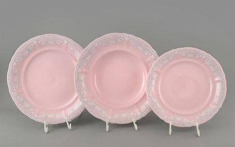 Набор тарелок 18 предметов с тарелками десертными 19 см Соната Leander
