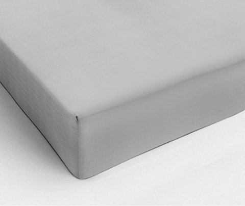 Простыня на резинке 80x200 Сaleffi Strech трикотаж серебристая