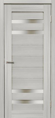 Дверь Дера Мастер 636, стекло белое, цвет сандал белый, остекленная