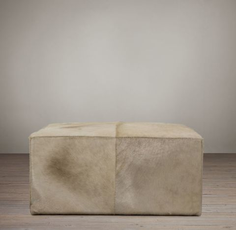 Cooper Hair-On-Hide Square Ottoman
