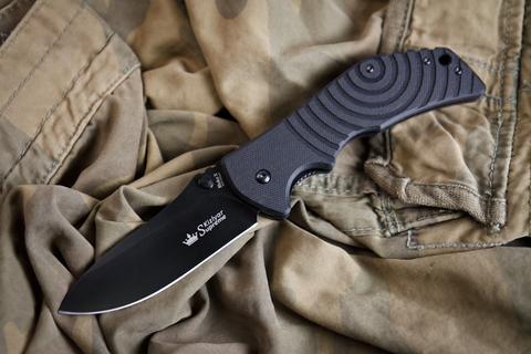 Складной нож Bloke X AUS-8 Black Titanium