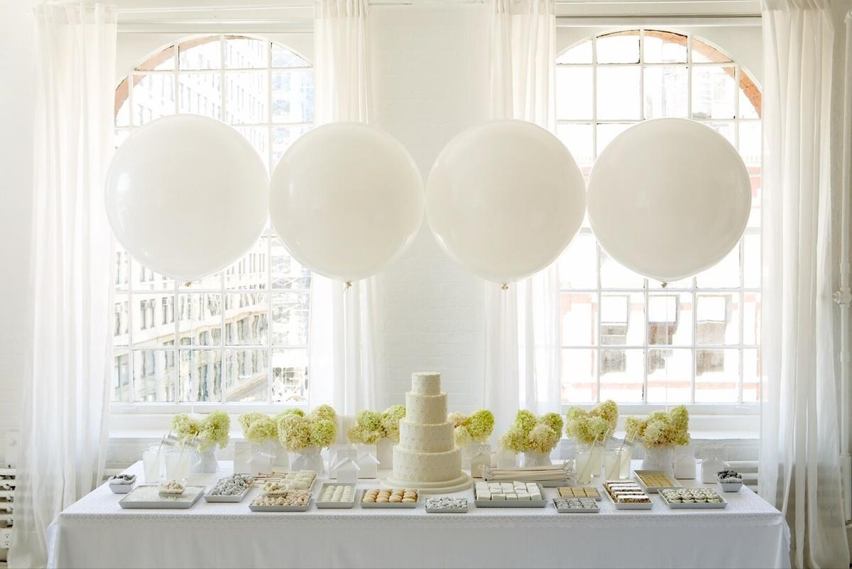 Большой белый шар 90 см. (фото 3)