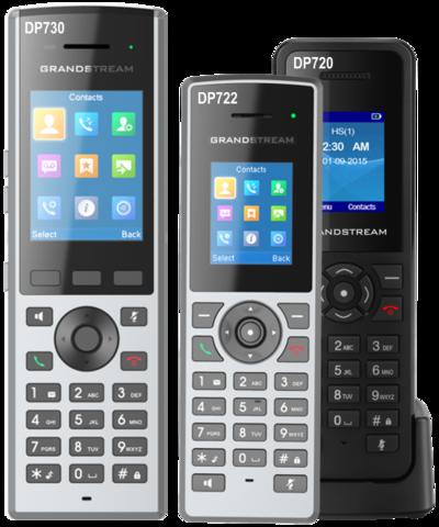 Grandstream DP722 - IP DECT трубка с зарядным стаканом. 3 программ. клавиши, 1.8