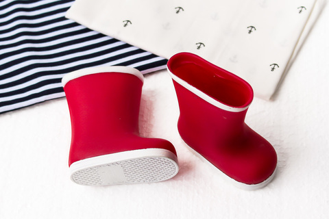 Обувь для куклы. Сапоги резиновые - красные