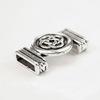 Бусина металлическая (для шнура 10х2 мм) 24х15 мм (цвет - античное серебро)