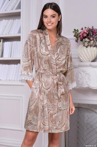 Женский халат Mia-Amore  CLEMENTINA 3453 (70% натуральный шелк)