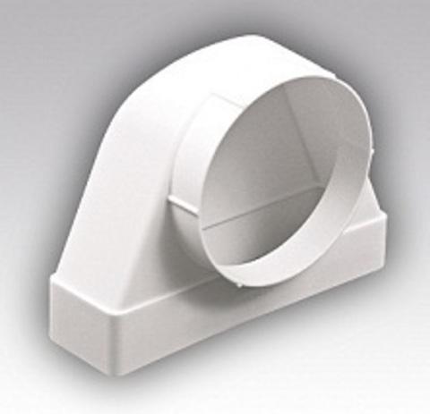 Соединитель угловой 110х55/100 ФП проходной пластиковый