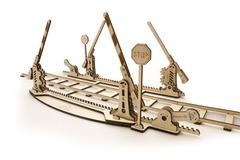 Конструктор 3D-пазл Ugears - Переезд (с рельсами)