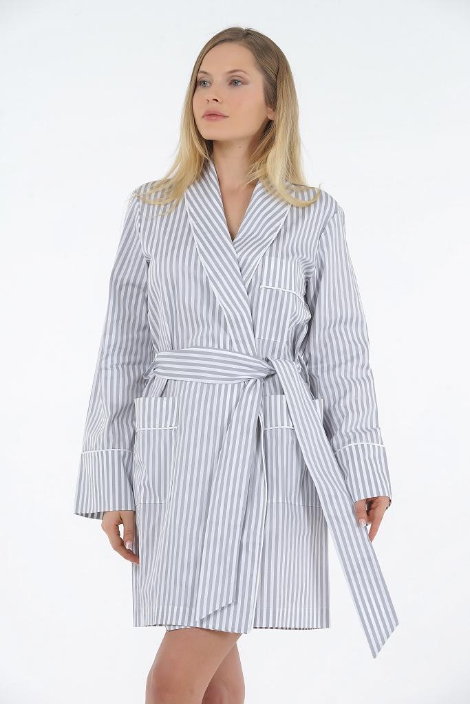 Короткий женский халат B&B (Женские халаты)
