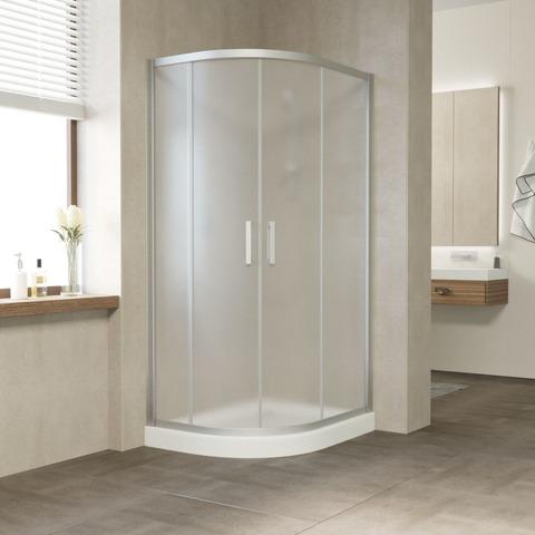 Душевой уголок Vegas Glass ZS-F профиль матовый хром, стекло сатин