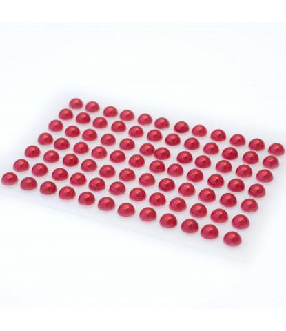 Стразы жемчуг красные 5 мм 84 шт