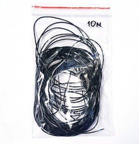 Спандекс  1,0 мм - силиконовая нить черный 10 метров