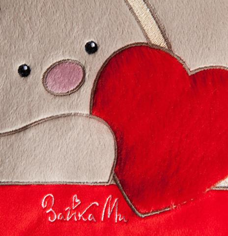 Подушка Зайка Ми с сердцем