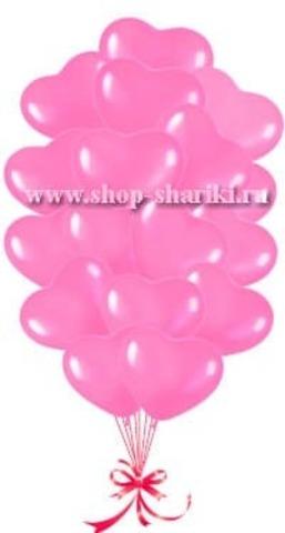 Шарики сердечки розовые