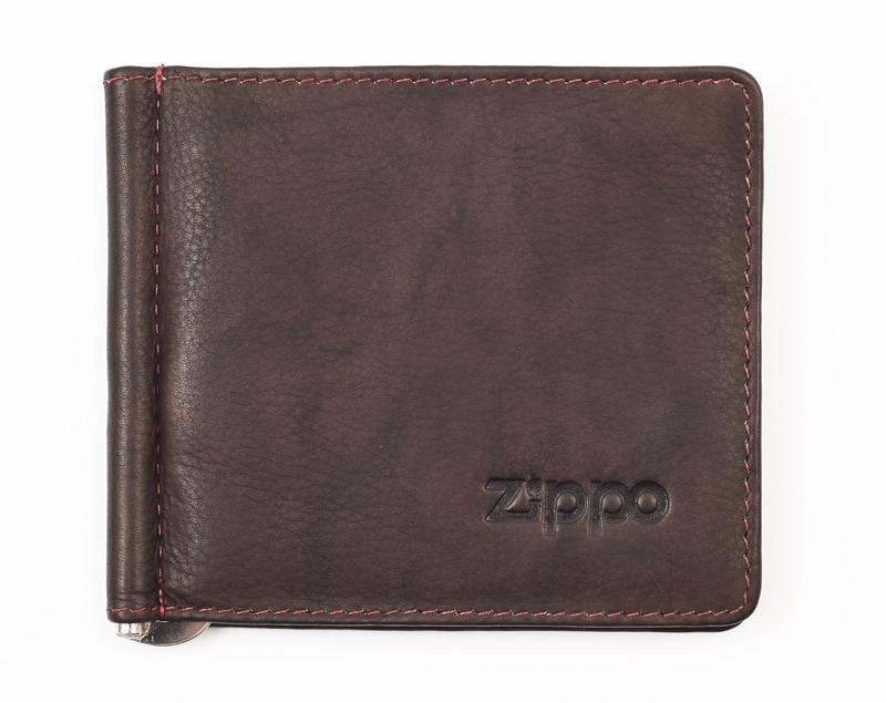 Кожаный двойное портмоне с зажимом для денег ZIPPO 2005126