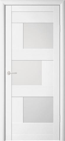 Дверь Фрегат ALBERO Стокгольм, стекло матовое, цвет кипарис белый, остекленная
