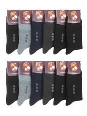 2506 носки мужские, цветные 41-47 (12шт)