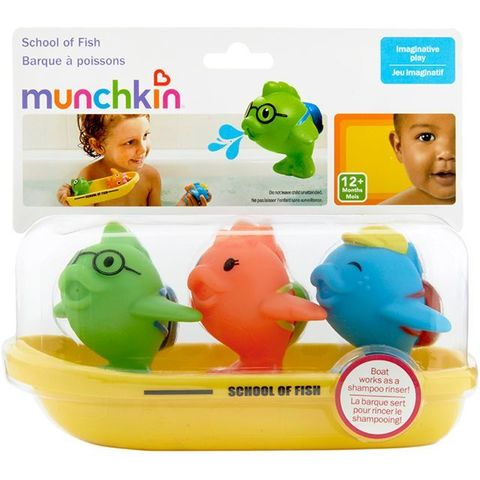 Munchkin игрушка для ванны школа рыбок 12+