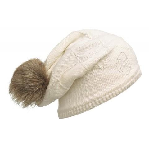 Вязаная шапка-бини со стразами Buff Chic Stella Cream