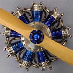 Constructional drawings 9 cylinder RC radial engine 150 cc plans glow Sternmotor
