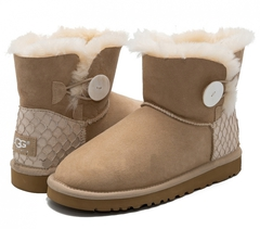 UGG Mini Bailey Button Perla Sand