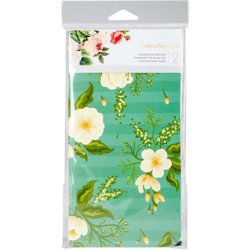 Запасные блоки Color Crush Traveler's Planner Notebooks   для  Travelers' Notepad -2шт. -Black & White Stripe/Green Floral