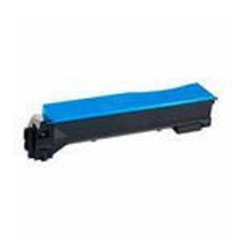 Совместимый картридж Kyocera TK-540C голубой для принтеров Kyocera FS-C5100DN. Ресурс 4000 стр.