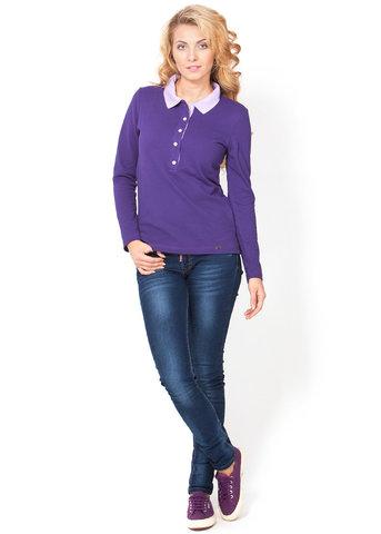 Лонгслив-поло фиолет для кормящих