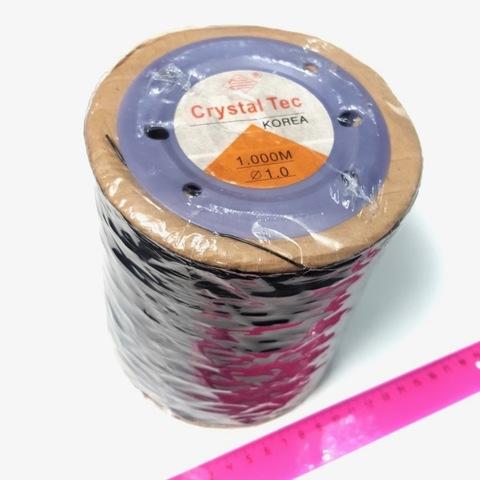 Спандекс (силиконовая нить) цвет черный 1,0 мм - 1000 м
