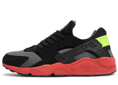 Кроссовки Мужские Nike Air Huarache Black Red Grey Green