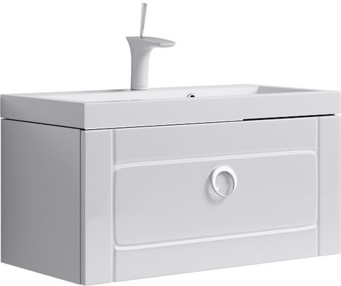 Инфинити Тумба под умывальник подвесная с ящиком, цвет белый Inf.01.08/001,