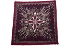 Шерстяной женский бордовый платок (0080 PLATOK 8)