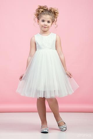 Нежное белое платье (арт.38-9005-3)