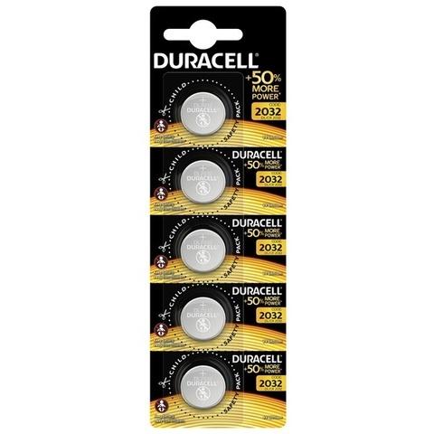 Батарейки литиевые Duracell CR2032, 3V (5/20) BL