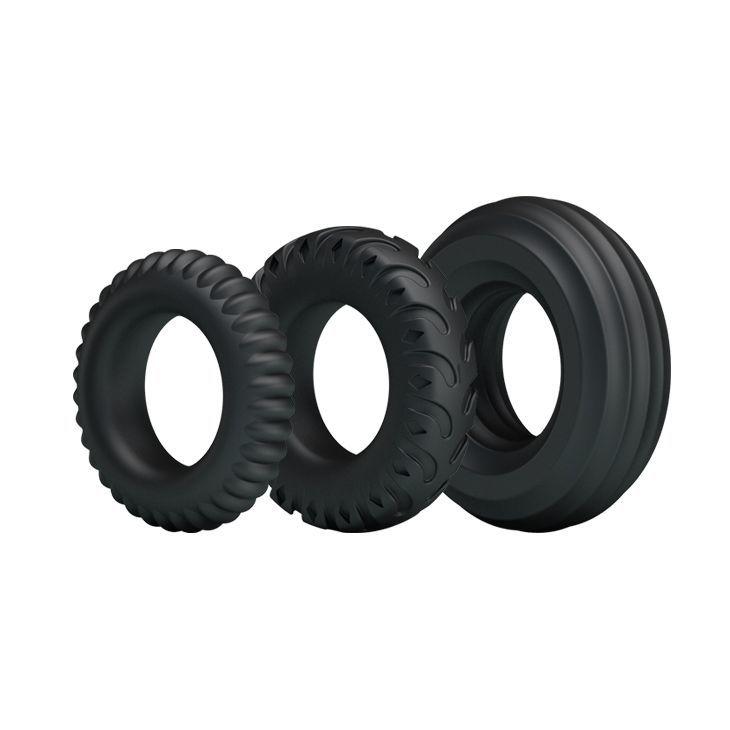 Эрекционные кольца: Набор из 3 эрекционных колец различного размера