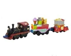 Chuggington Die-Cast Паровозик Старина Пит с двумя вагончиками (LC54076)