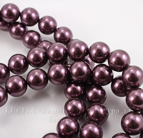 5810 Хрустальный жемчуг Сваровски Crystal Burgundy круглый 12 мм