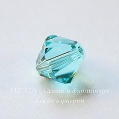 5328 Бусина - биконус Сваровски Light Turquoise 8 мм