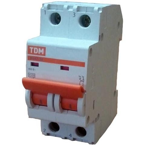 Автоматический выключатель (автомат) 2Р 32А ВА 47-63 TDM / EKF