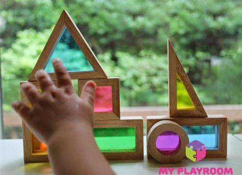 Конструктор Радужные блоки (Rainbow blocks), 20 деталей 3