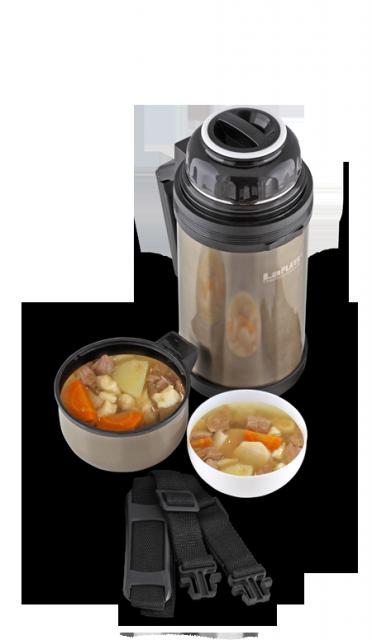 Термос универсальный (для еды и напитков) La Playa Traditional (1,8 литра) оливковый