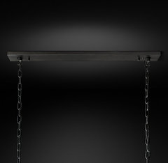 Harlow Crystal Rectangular Chandelier 55