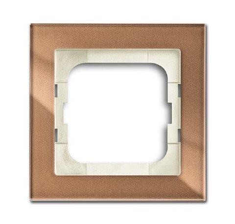 Рамка на 1 пост. Цвет Коричневое стекло. ABB(АББ). Axcent(Акcент). 1754-0-4543
