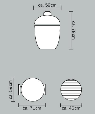Керамический гриль Monolith Classic L большой (черный)