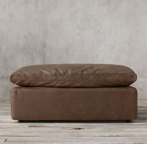 Cloud Modular Leather End-of-Sectional Ottoman